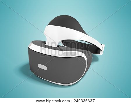 Modern Glasses Of Vertuality Of Reality For Consoles And Consoles And Watching Movies White With Bla
