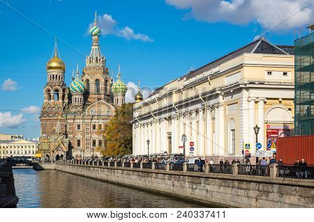 Saint- Petersburg, Russia - October 03, 2016: The Church Of The Savior On Spilled Blood Is One Of Th