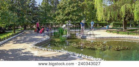 Sochi, Russia - April 27, 2018: Pond In The Riviera Park.