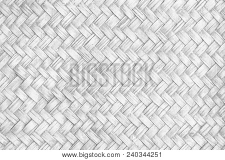 Grey Antique Bamboo Woven Use For Background