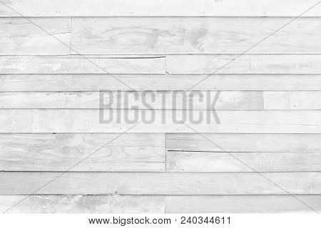 Old White Wood Board Used For The Background.