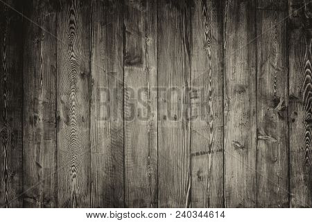 Old Black Wood Board Used For The Background.