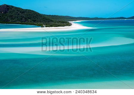 Whitehaven Beach On Whitsunday Island, Great Barrier Reef, Queensland, Australia.
