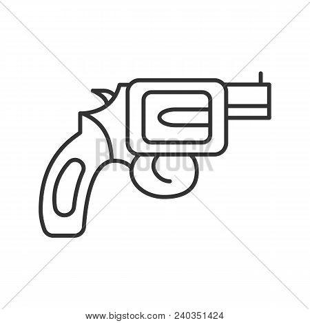 Revolver Linear Icon Vector Photo Free Trial Bigstock