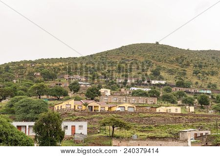 Tugela Ferry, South Africa - March 22, 2018: Houses Against The Slope Of A Hill At Tugela Ferry In T