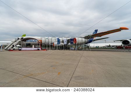 Berlin, Germany - April 25, 2018: The Prototype Of The Aircraft Project Blade (breakthrouh Laminar A
