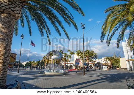Los Angeles, Usa - March, 2018: Universal Studios Hollywood Park, The First Film Studio And Theme Pa