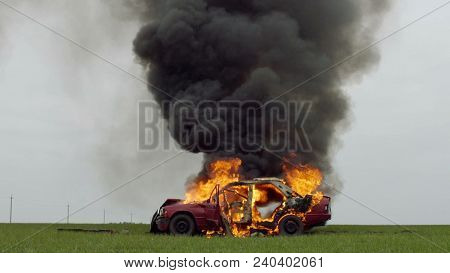 Car On Fire In The Field, Summer