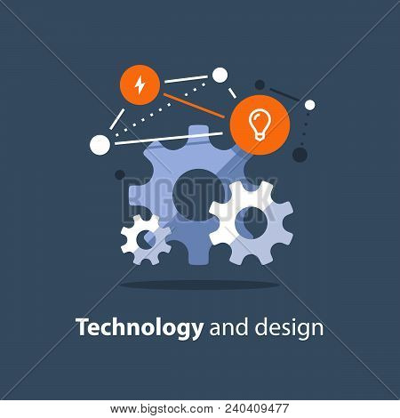 Innovative Technology, Design Solutions, Team Work Concept, New Business, Start Up Development, Syst