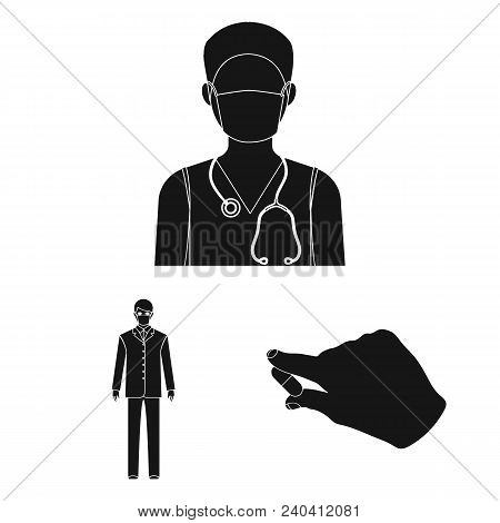 Medicine And Treatment Black Icons In Set Collection For Design.hospital And Equipment Vector Symbol
