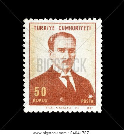 Turkey - Circa 1967 : Cancelled Postage Stamp Printed By Turkey, That Shows Kiral Maatbasi.