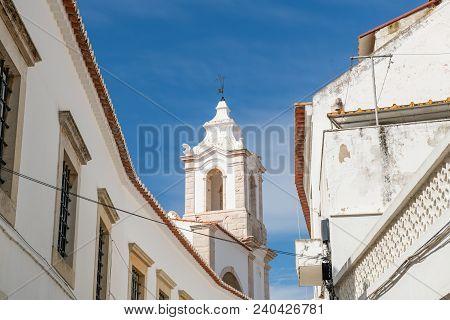 Lagos, Portugal - Circa May 2018: View Of Santo Antonio Church Bell Tower (igreja De Santo Antonio)