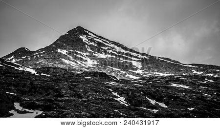 Rocky Mountains Nature Scenes On Alaska British Columbia Border