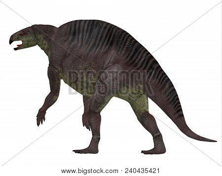 Lotosaurus Dinosaur Tail 3d Illustration - Lotosaurus Adentis Was A Herbivorous Poposauroid Dinosaur