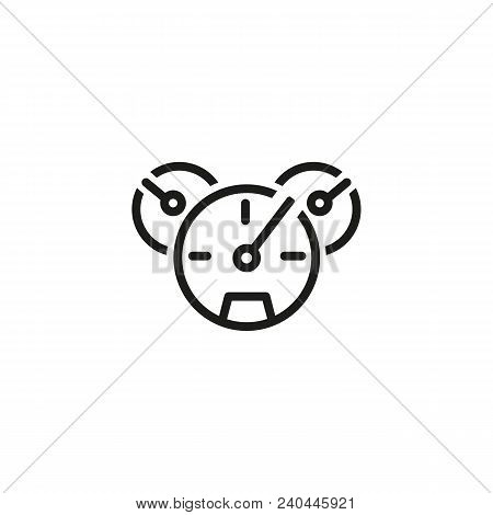 Icon Of Car Dashboard. Odometer, Speedometer, Panel. Vehicle Interior Concept. Can Be Used For Topic