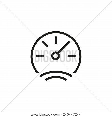 Icon Of Vehicle Gauge. Speedometer, Round, Measurement. Car Concept. Can Be Used For Topics Like Tac