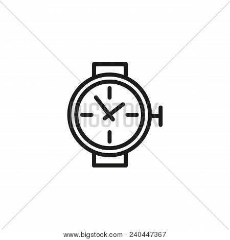 Wrist Watch Line Icon. Wristwatch, Clock, Dial. Time Concept. Can Be Used For Topics Like Timing, Ti