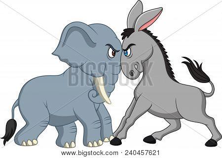 American Politics - Democratic Donkey Versus Republican Elephant