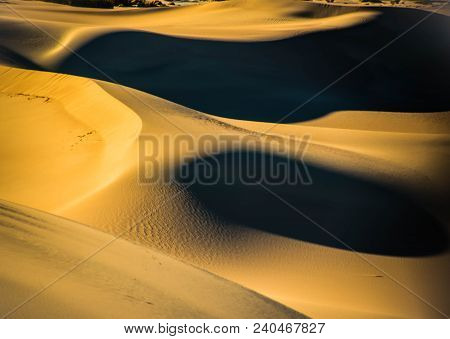 A Walk On The Wild Side, Death Valley Sand Dunes, California