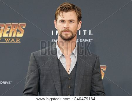 Chris Hemsworth at the premiere of Disney and Marvel's 'Avengers: Infinity War' held at the El Capitan Theatre in Hollywood, USA on April 23, 2018.