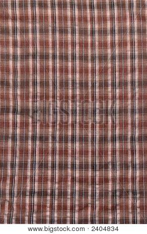 Brown Plaid Textile