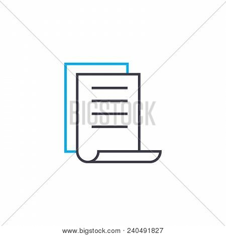 Brief Report Vector Thin Line Stroke Icon. Brief Report Outline Illustration, Linear Sign, Symbol Is