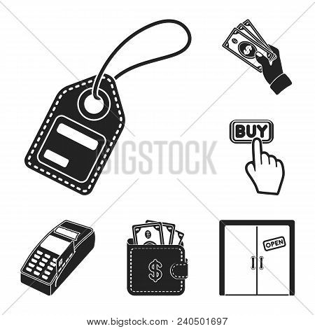 E-commerce, Purchase And Sale Black Icons In Set Collection For Design. Trade And Finance Vector Sym