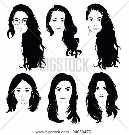 Set Hairstyles Women Vector Photo Free Trial Bigstock