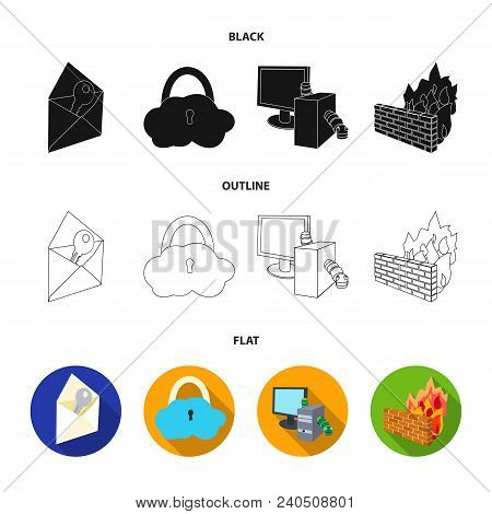 System, Internet, Connection, Code .hackers And Hacking Set Collection Icons In Black, Flat, Outline