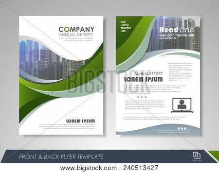 Modern Green Brochure Design, Brochure Template, Brochures, Brochure Layout, Brochure Cover, Brochur