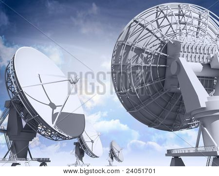 Giant radio telescopes