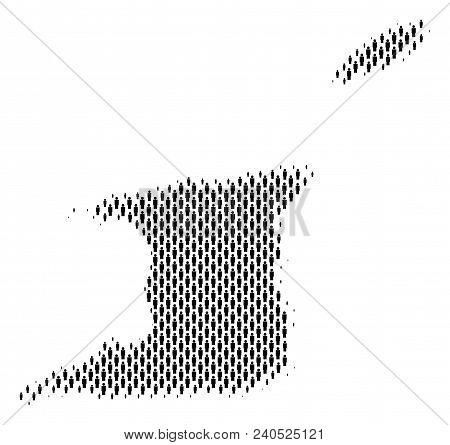 Demography Trinidad And Tobago Map People. Population Vector Cartography Abstraction Of Trinidad And