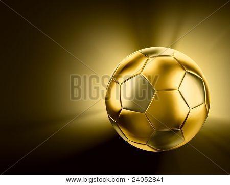 Gold soccer