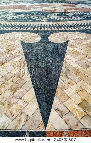 The Mosaic Of The Portuguese Maritime Discoveries At The Monument To The Discoveries. District Of Be