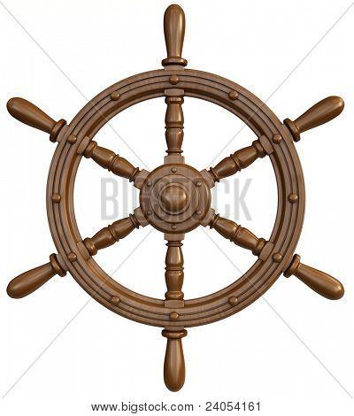 ship wheel poster