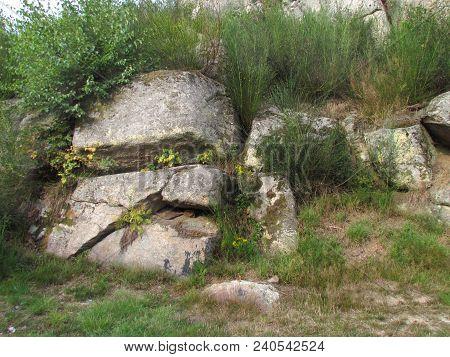 Huge Stones In Nature, Rock Resembling A Skull, Natural Rock Formation