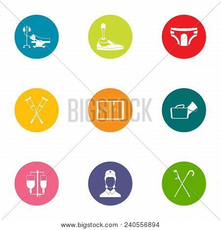 Attending Physician Icons Set. Flat Set Of 9 Attending Physician Vector Icons For Web Isolated On Wh