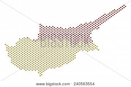 Pixel Cyprus Countries Map. Vector Geographic Scheme. Cartographic Composition Of Cyprus Countries M