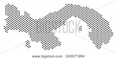 Dotted Panama Map. Vector & Photo (Free Trial) | Bigstock