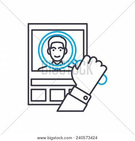 Customer Analysis Vector Thin Line Stroke Icon. Customer Analysis Outline Illustration, Linear Sign,