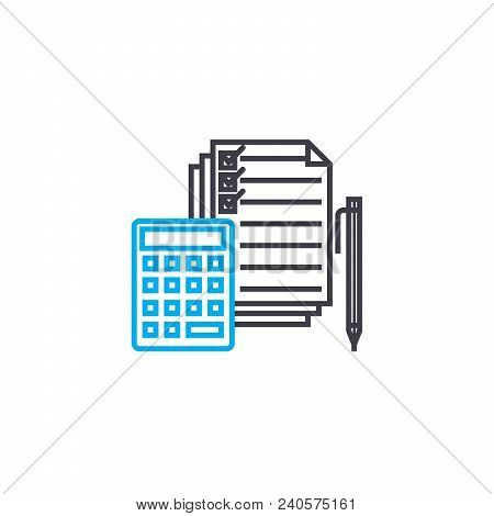 Expenditure Clauses Vector Thin Line Stroke Icon. Expenditure Clauses Outline Illustration, Linear S