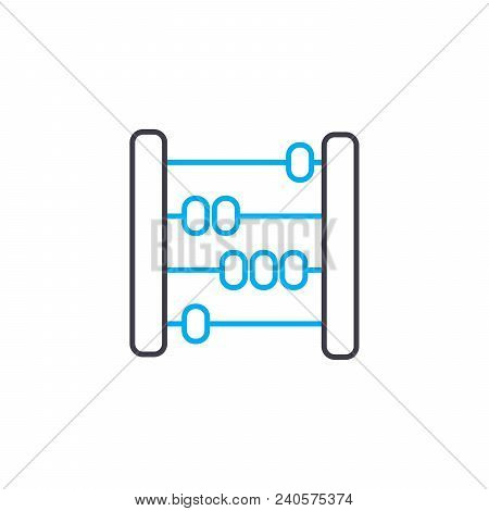 Financial Accounting Vector Thin Line Stroke Icon. Financial Accounting Outline Illustration, Linear