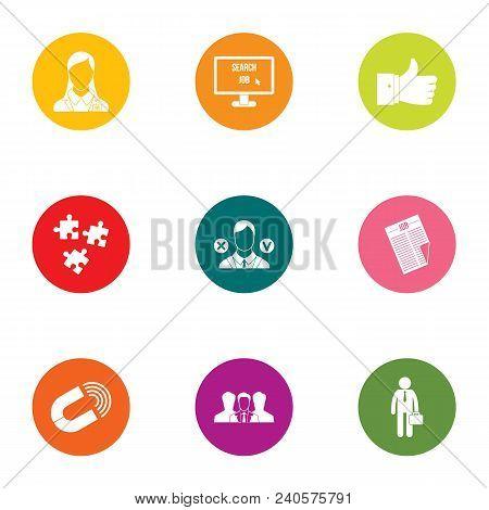 Business Cooperation Icons Set. Flat Set Of 9 Business Cooperation Vector Icons For Web Isolated On