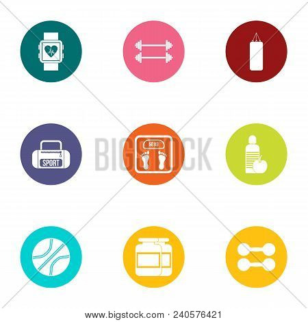Med Cooperation Icons Set. Flat Set Of 9 Med Cooperation Vector Icons For Web Isolated On White Back