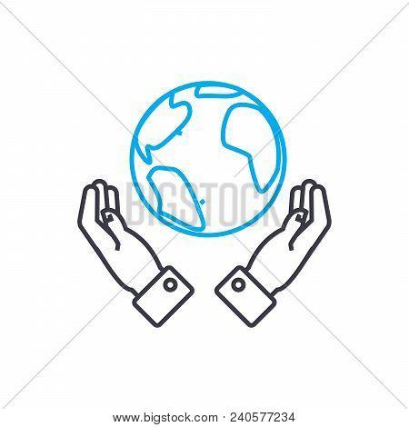 Global Opportunities Vector Thin Line Stroke Icon. Global Opportunities Outline Illustration, Linear