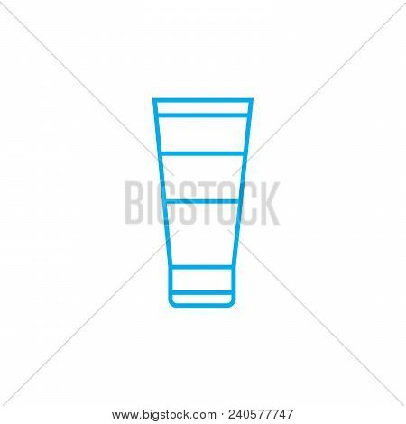 Hand Lotion Vector Thin Line Stroke Icon. Hand Lotion Outline Illustration, Linear Sign, Symbol Isol