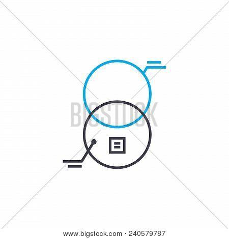 Interaction Analysis Vector Thin Line Stroke Icon. Interaction Analysis Outline Illustration, Linear