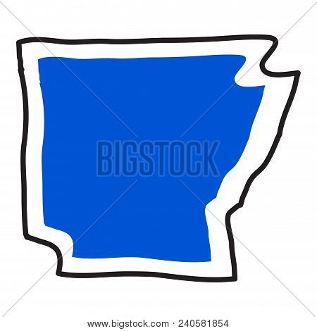 Isolated Map Of The State Of Arkansas. Vector Illustration Design