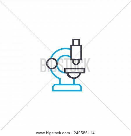 Scientific Research Vector Thin Line Stroke Icon. Scientific Research Outline Illustration, Linear S