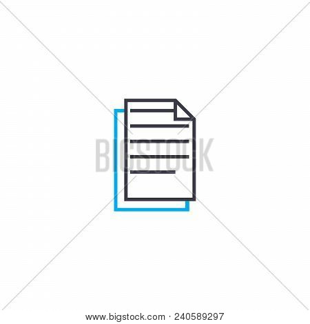 Text Information Vector Thin Line Stroke Icon. Text Information Outline Illustration, Linear Sign, S